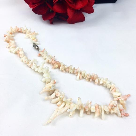 Vintage Jewelry - Vintage Angel Skin Coral Branch Necklace